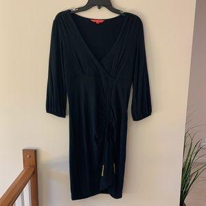 Ivanka trump black wrap dress with sleeves size M